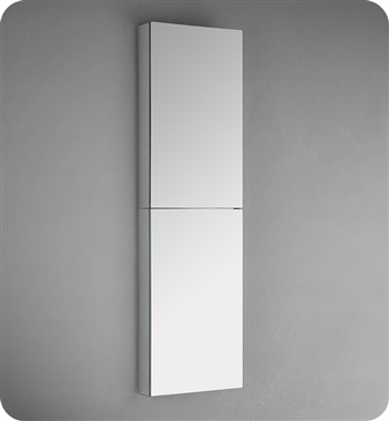 "Fresca 15"" Wide x 52"" Tall Bathroom Medicine Cabinet with Mirrors"