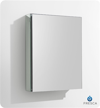 "Fresca 20"" Wide x 26"" Tall Bathroom Medicine Cabinet with Mirrors"