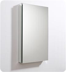 "Fresca 20"" Wide x 36"" Tall Bathroom Medicine Cabinet with Mirrors"