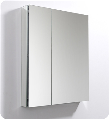 "Fresca 30"" Wide x 36"" Tall Bathroom Medicine Cabinet with Mirrors"