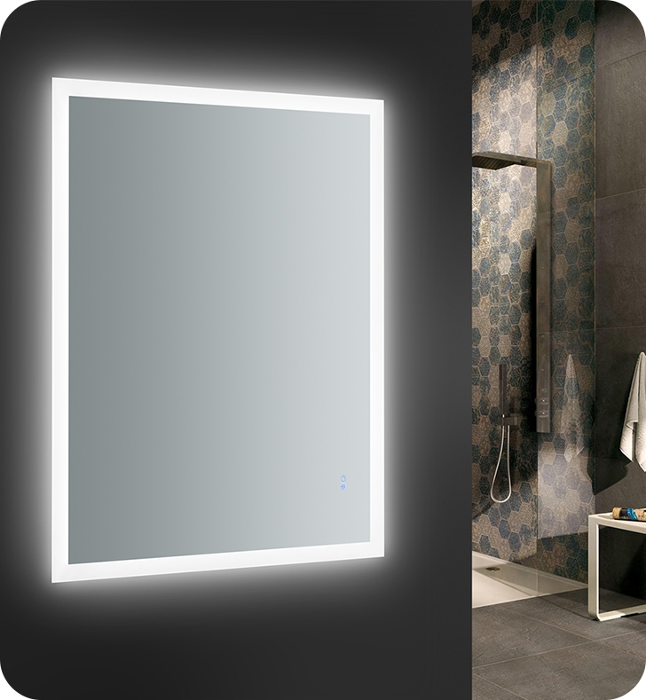 Fresca Angelo 48 Wide X 36 Tall Bathroom Mirror With Halo Style Led Lighting