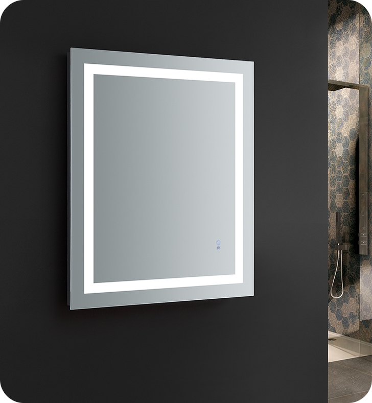 Fresca Santo 36 Wide X 30 Tall Bathroom Mirror With Led Lighting And Defogger