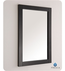 "Fresca Silver Hartford 20"" Black Traditional Bathroom Mirror"