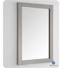 "Fresca Silver Hartford 20"" Gray Traditional Bathroom Mirror"