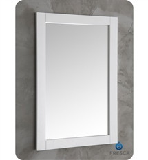 "Fresca Silver Hartford 20"" White Traditional Bathroom Mirror"