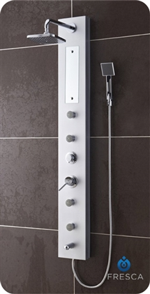 Fresca Salerna PVC Silver Shower Massage Panel - FSP8004SL