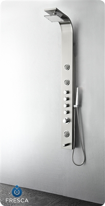Fresca Geona Stainless Steel (Brushed Silver) Thermostatic Shower Massage Panel