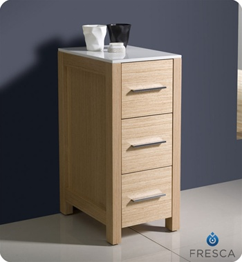 "Fresca Torino 12"" Side Cabinet in Light Oak"