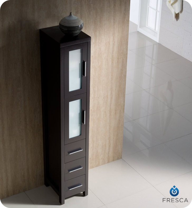 The Fresca Torino Tall Bathroom Linen Cabinet