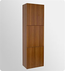 Fresca Teak Bathroom Linen Side Cabinet w/ 3 Large Storage Areas