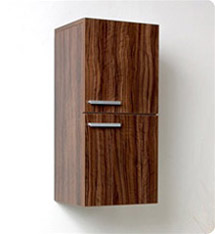 Fresca Walnut Bathroom Linen Side Cabinet w/ 2 Storage Areas