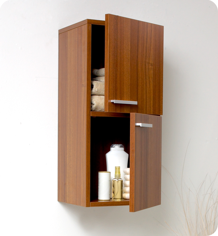 teak bathroom storage,