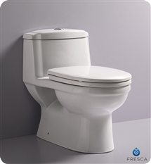 Fresca Dorado One-Piece Dual Flush Toilet w/ Soft Close Seat