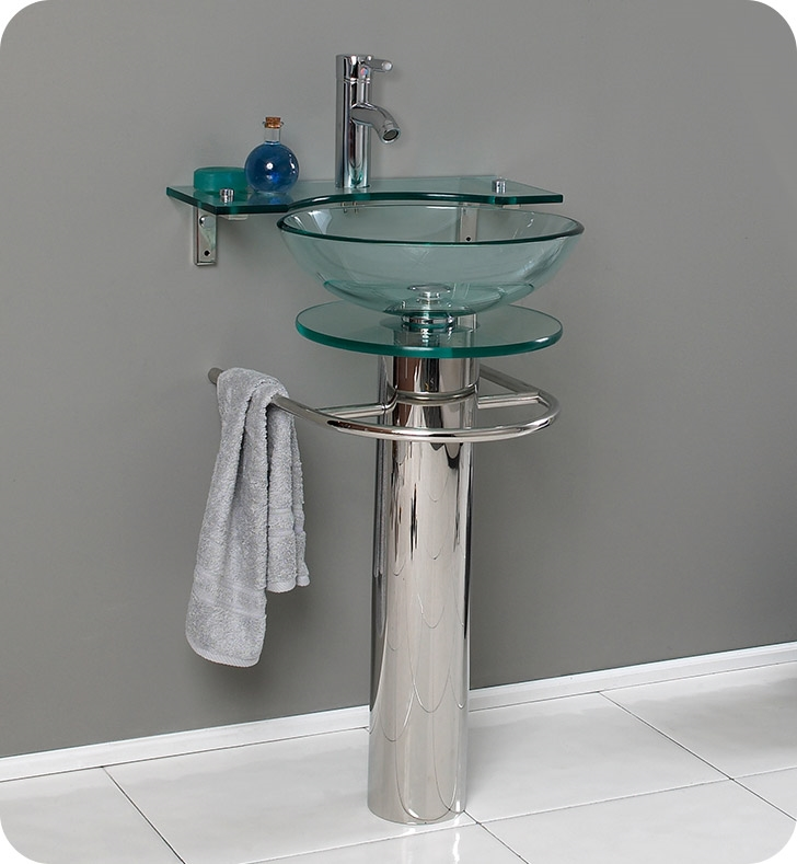 Shallow Depth Pedestal Sink : Modern Glass Pedestal Sink Bathroom vanities buy bathroom vanity ...