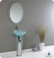 Fresca - Vitale - Glass Bathroom Vanity w/ Mirror - FVN1053