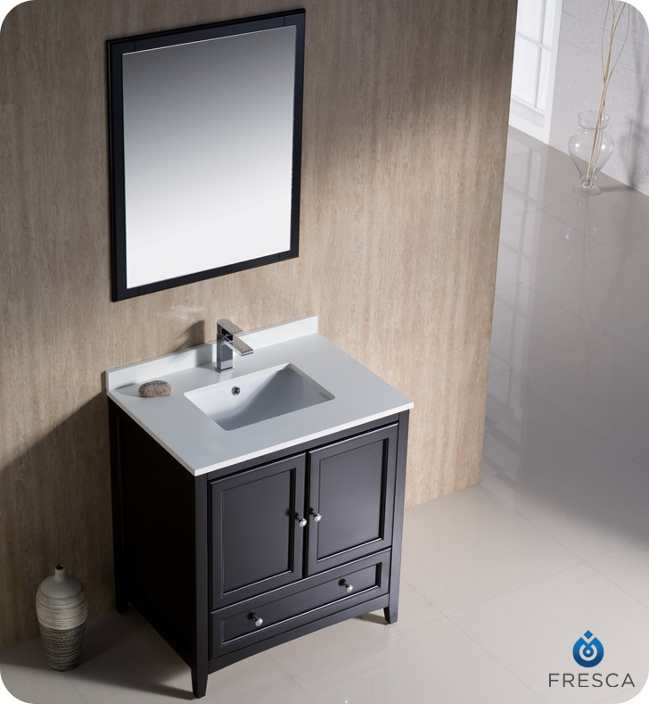 blending clean lines with classic wood the fresca oxford traditional bathroom vanity