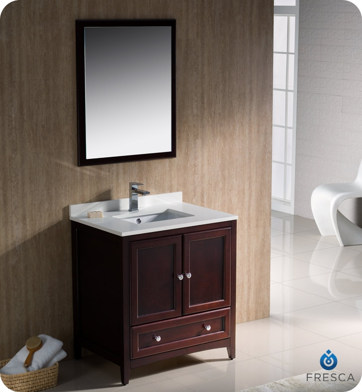 Fresca Oxford 30 Mahogany Traditional Bathroom Vanity