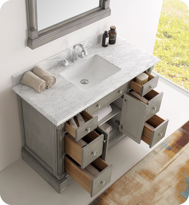 Incroyable The Fresca Kingston Antique Silver Traditional Bathroom Vanity ...