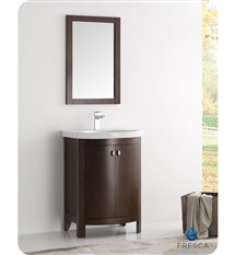 "Fresca Greenwich 24"" Antique Coffee Traditional Bathroom Vanity"