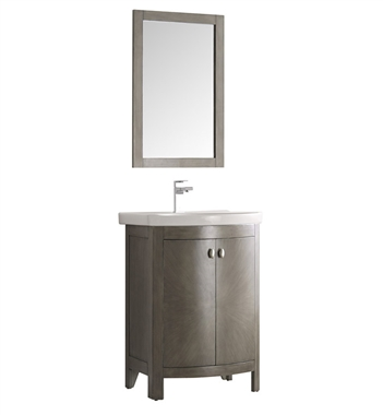 "Fresca Greenwich 24"" Antique Silver Traditional Bathroom Vanity"