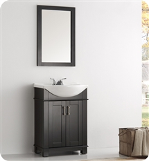 "Fresca Greenwich 24"" Black Traditional Bathroom Vanity"