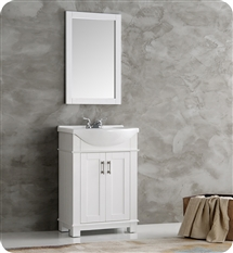 "Fresca Hartford 24"" White Traditional Bathroom Vanity"