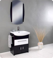 Fresca - Distinto - Bathroom Vanity w/ Large White Ceramic Sink - FVN3021WG