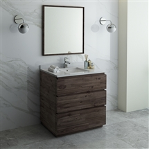 "Fresca Formosa 36"" Floor Standing Modern Bathroom Vanity with Mirror"