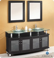 "Fresca - Contento 60"" - Bathroom Vanity w/ Tempered Glass Sink - FVN3310ES"
