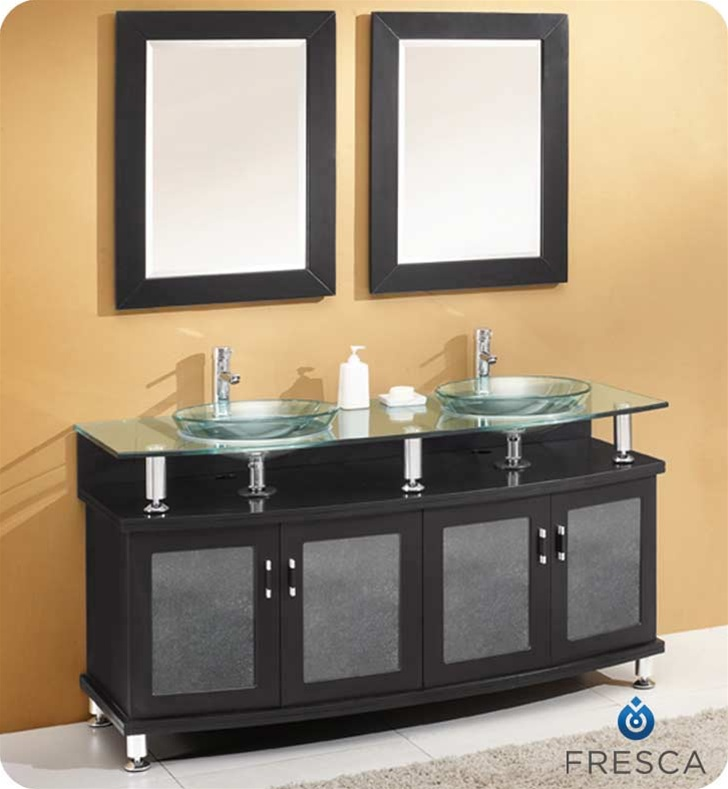bathroom vanity with sink and mirror. Fresca  Contento 60 Bathroom Vanity w Tempered Glass Sink FVN3310ES Vanities Buy Furniture Cabinets RGM