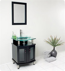 "Fresca - Contento 24"" - Bathroom Vanity w/ Tempered Glass Sink - FVN3312ES"