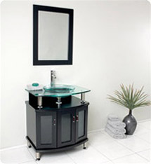 "Fresca - Contento 30"" - Bathroom Vanity w/ Tempered Glass Sink - FVN3314ES"