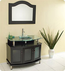 "Fresca - Contento 39"" - Bathroom Vanity w/ Tempered Glass Sink - FVN3316ES"