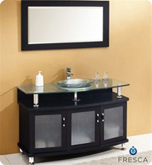 "Fresca - Contento 48"" - Bathroom Vanity w/ Tempered Glass Sink - FVN3318ES"