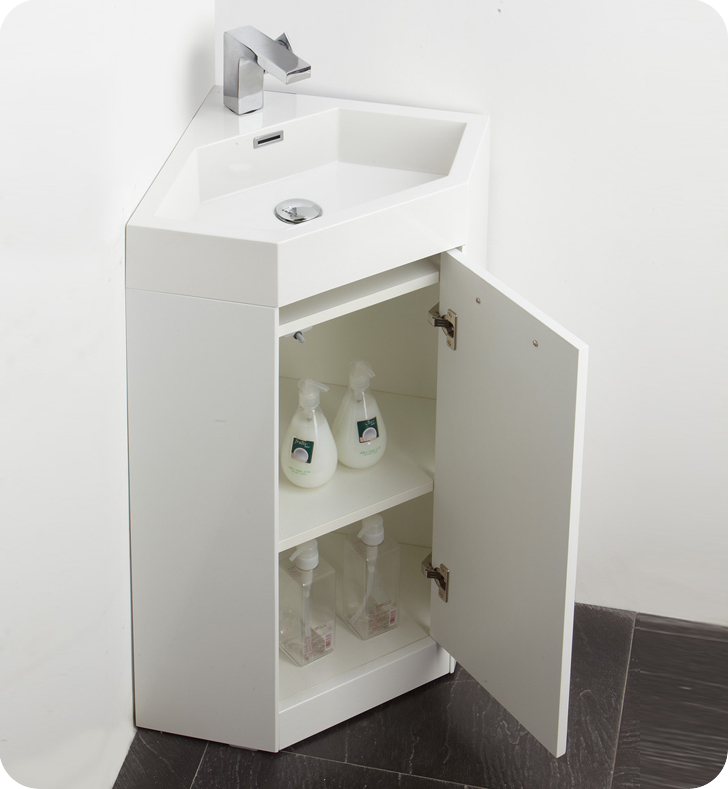 the coda is a corner vanity