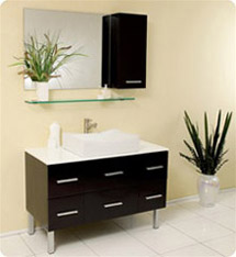Fresca - Distante - (Espresso) Bathroom Vanity w/ Cultured Marble Countertop - FVN6123ES