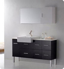 Fresca - Serio - (Espresso) Bathroom Vanity w/ Unique Faucet and Large Countertop - FVN6143ES