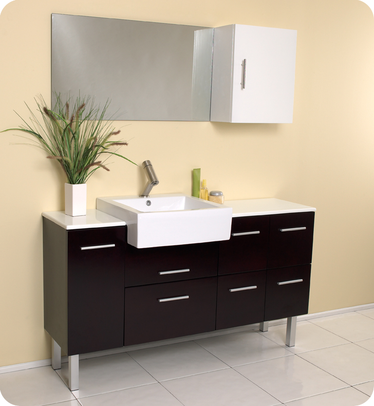 modern bathroom furniture cabinets. fresca serio espresso bathroom vanity w unique faucet and large countertop modern furniture cabinets