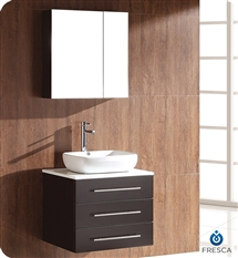 Fresca - Modella - (Espresso) Bathroom Vanity w/ White Ceramic Sink and Medicine Cabinet - FVN6185ES