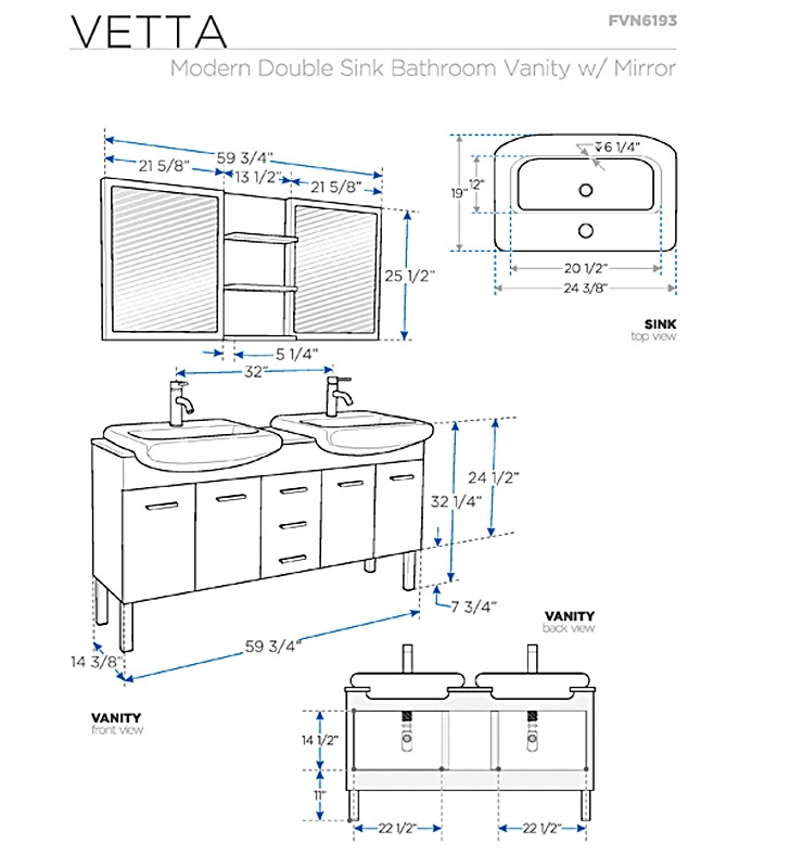 Standard bathroom sink dimensions the for Bathroom dimensions
