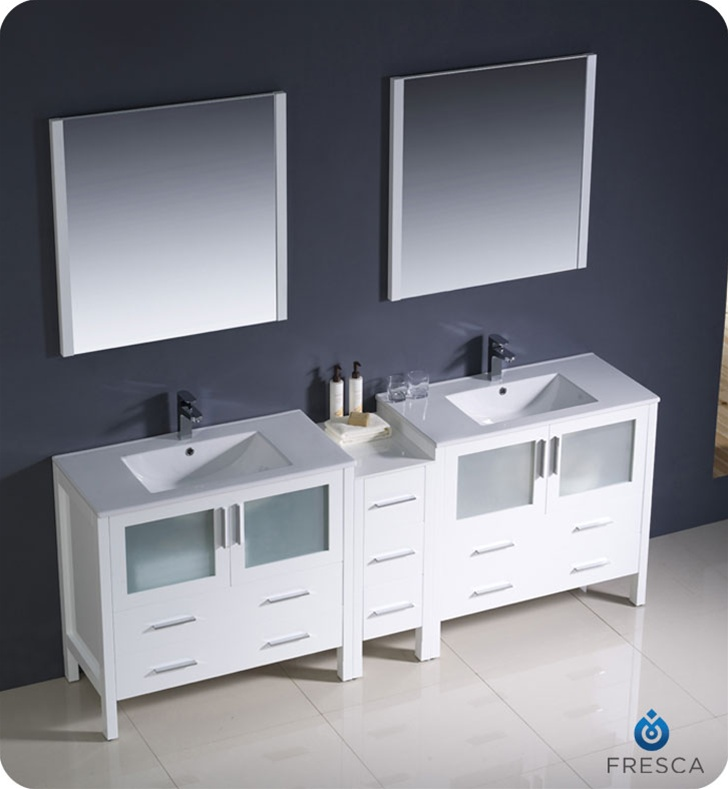 New Fresca Ciron Modern Double Sink Bathroom Vanity  Contemporary  Los