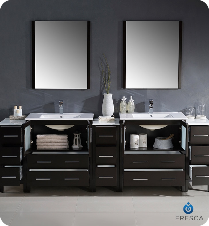 96 inch double vanity. Fresca  Bathroom Vanities Buy Vanity Furniture Cabinets RGM