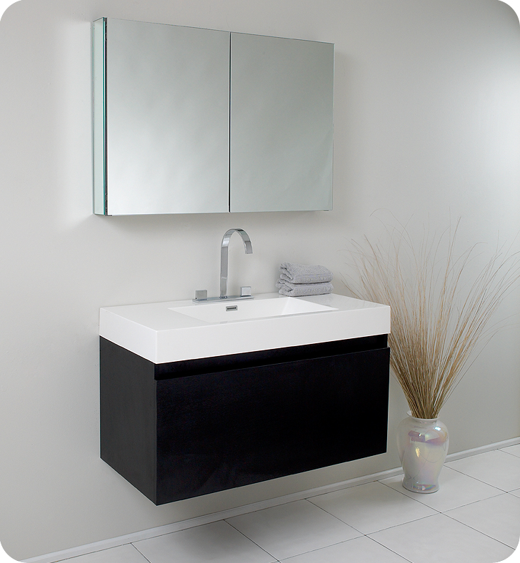 modern bathroom vanities. Fresca  Mezzo Black Bathroom Vanity w Blum Storage System FVN8010BW Vanities Buy Furniture Cabinets RGM
