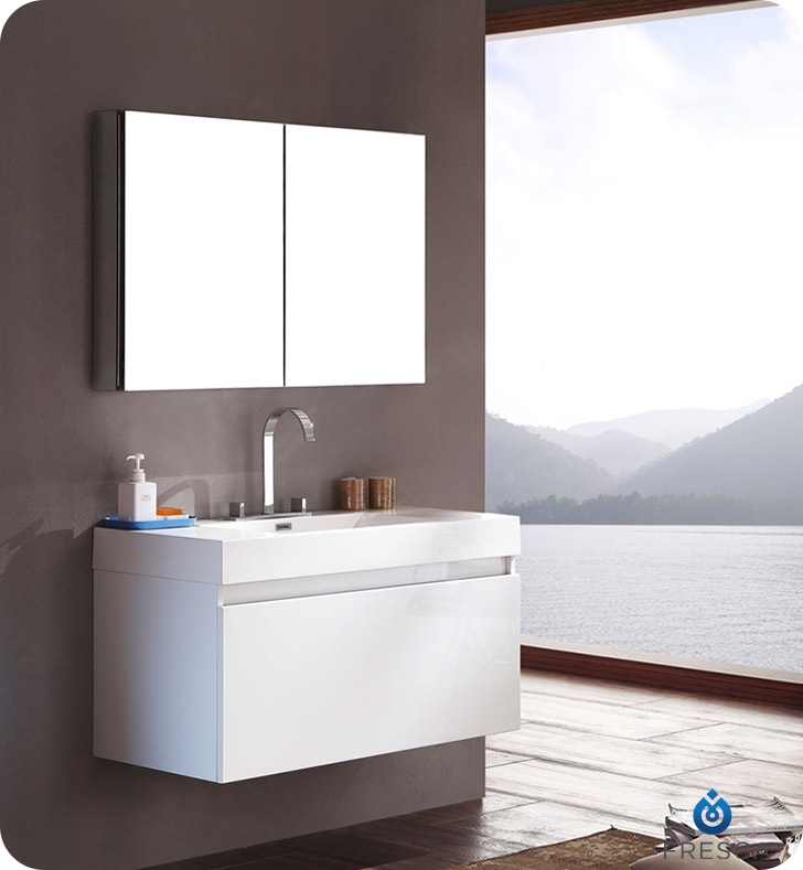 White Modern Bathroom Vanity