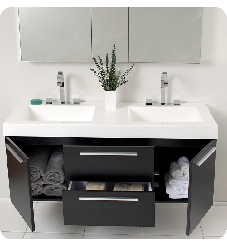 there - Double Sink Bathroom Vanities