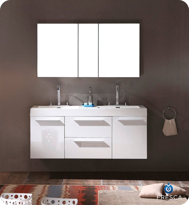 There is always great design in simplicity  Double the greatness with this double sink vanity with accompanying medicine cabinet. Bathroom Vanities   Buy Bathroom Vanity Furniture  amp  Cabinets   RGM
