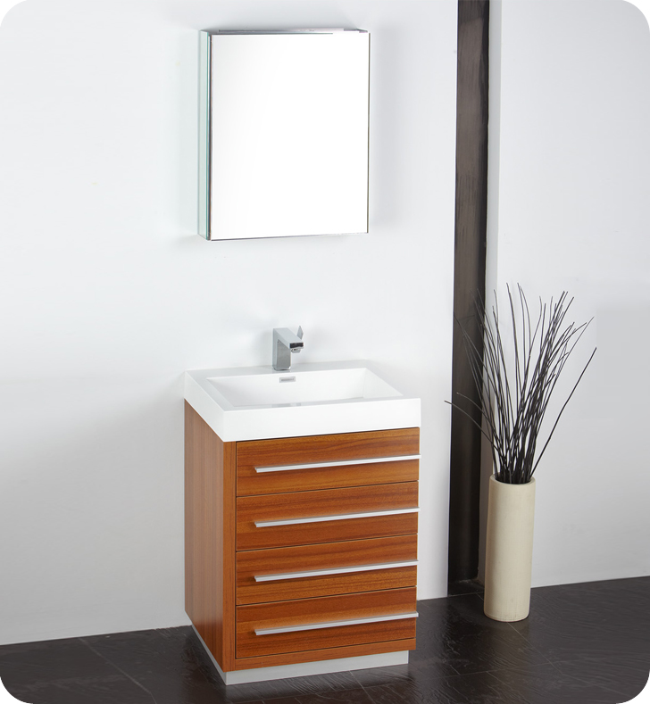 Fresca   Livello 24     Teak  Bathroom Vanity w  Modern Faucet and. Bathroom Vanities   Buy Bathroom Vanity Furniture   Cabinets   RGM