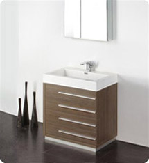 "Fresca - Livello 30"" - (Gray Oak) Bathroom Vanity w/ Modern Faucet and Medicine Cabinet - FVN8030GO"