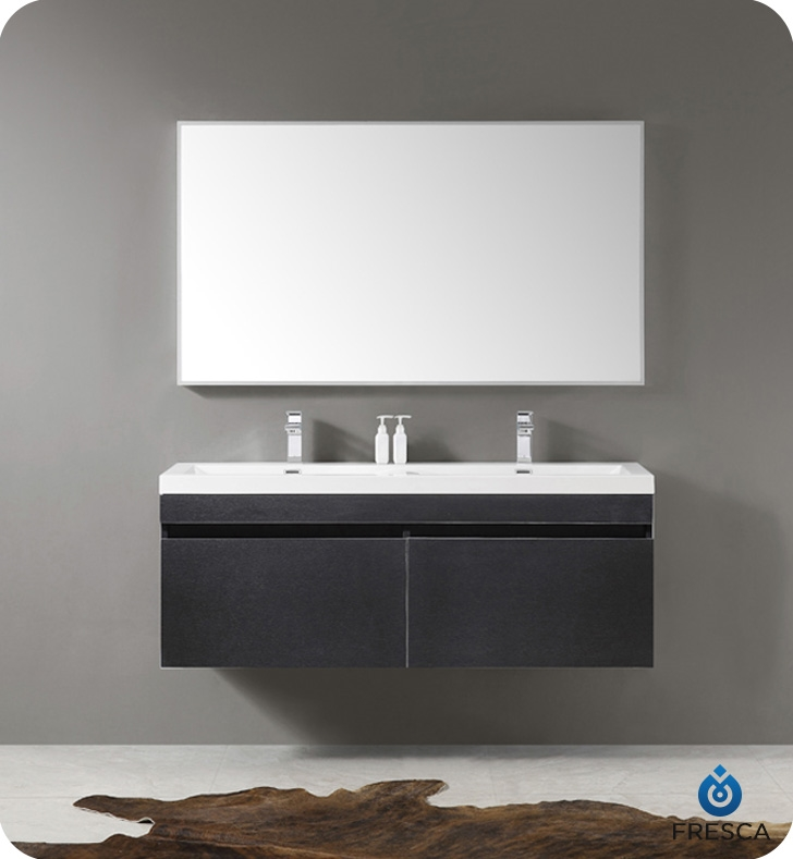 Striking In Its Simplicity This Double Sink Vanity ...