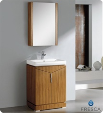 Fresca Elissos Wild Honey Oak Modern Bathroom Vanity